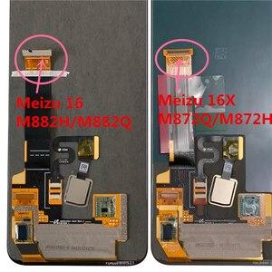 Image 5 - Оригинальный ЖК экран M & Sen 6,0 дюйма для Meizu 16 16th M882Q Super AMOLED + дигитайзер сенсорной панели в сборе для Meizu 16 M882H