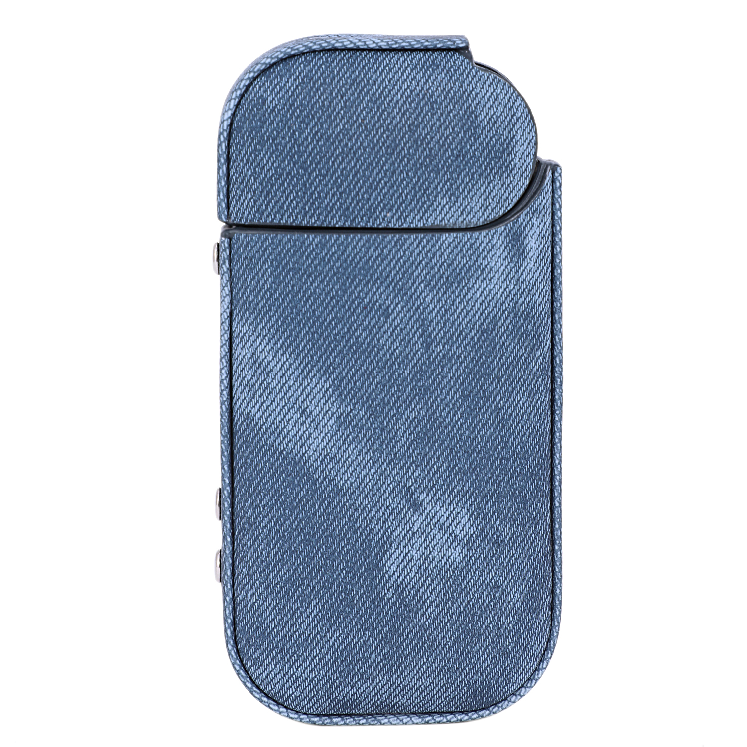 Hard Case for IQOS Anti Scratch Carrying Denim Protective Cover for iqos Electronic Cigarette Accessories Pouch Bag(dark blue)