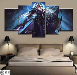 5 панелей Leona LOL League of Legends игра холст печатная картина для гостиной настенный художественный Декор HD картина художественные работы постер