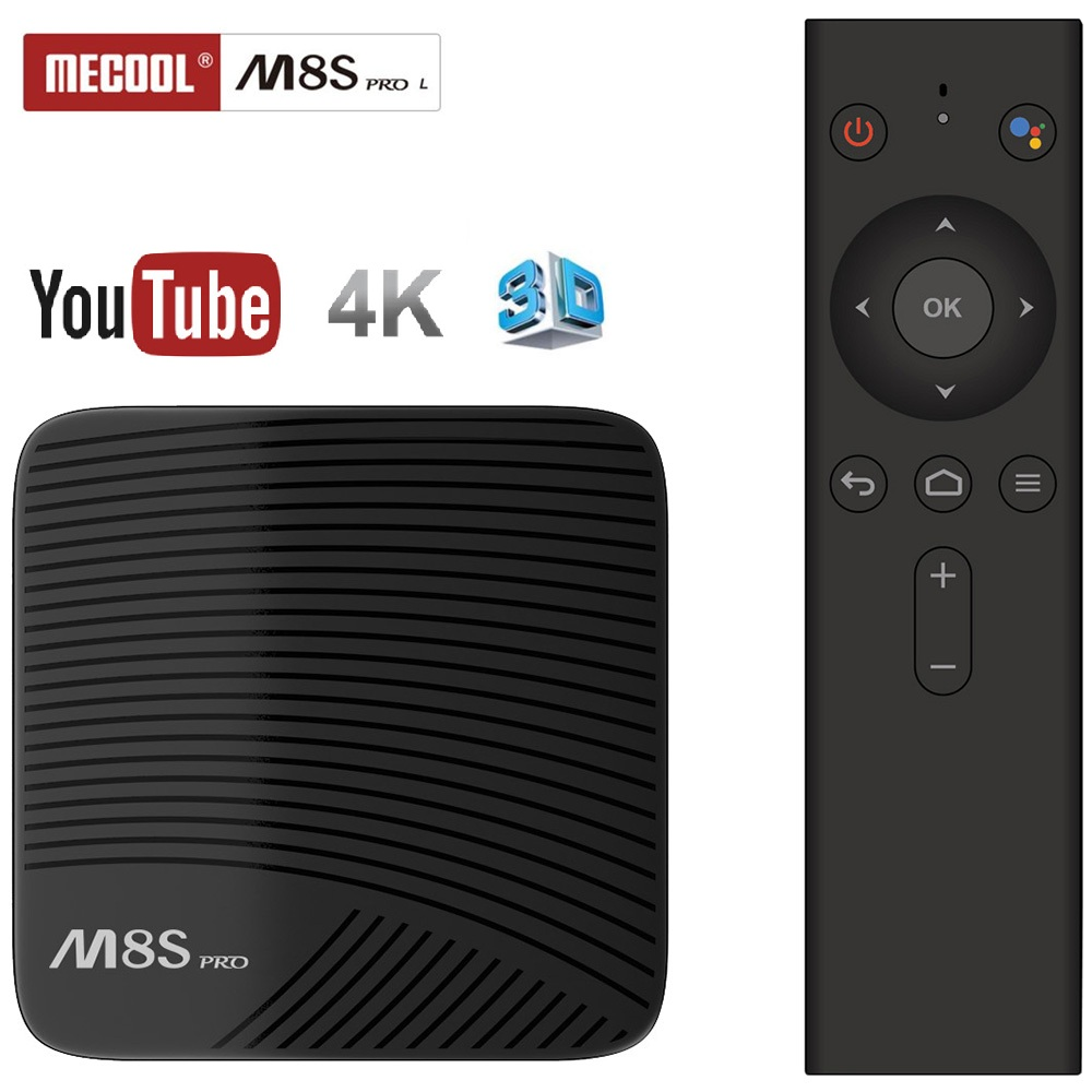 Mecool M8S PRO L 4K TV Box Amlogic S912 Bluetooth Android 7.1 3G RAM Smart Set Top Box Voice Remote Control Media Player