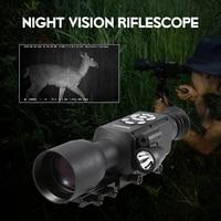 Ночное видение прицел охота Nightshot Монокуляр Дальномер Wi Fi gps баллистических компьютерный 1080 P видео фото