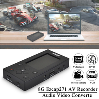 Ezcap271 AV Recorder 8GB 3 Inch Screen Audio Video VHS/Camcorder Tapes to Digital Format Converter Capture Box