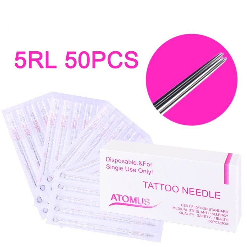 50 Stick Tattoo Needles 5RL Premium Tattoo Needles For DIY Hand Poke Stick For Beauty Tool