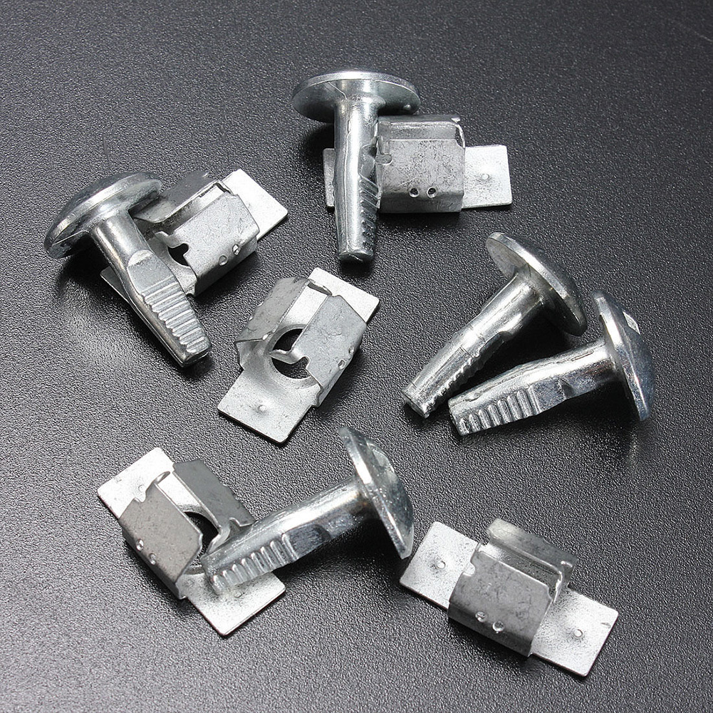 5 Pairs Protection Screws Car Engine Undertray Fixing Clip Cover For Peugeot Citroen 206 207406 407 806 807