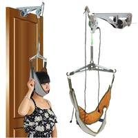 Cervical Traction Over Door Neck Massager Device Kit Stretcher Adjustment Chiropractic Back Head Massager relaxation