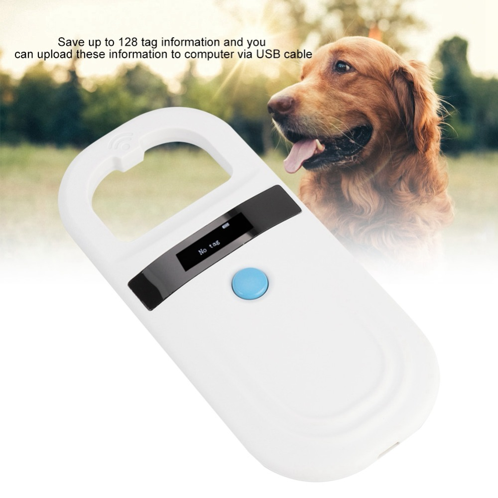 ISO FDX B Pet RFID Chip Reader Rechargeable OLED Portable Animal Chip ID Scanner Scanner Pet