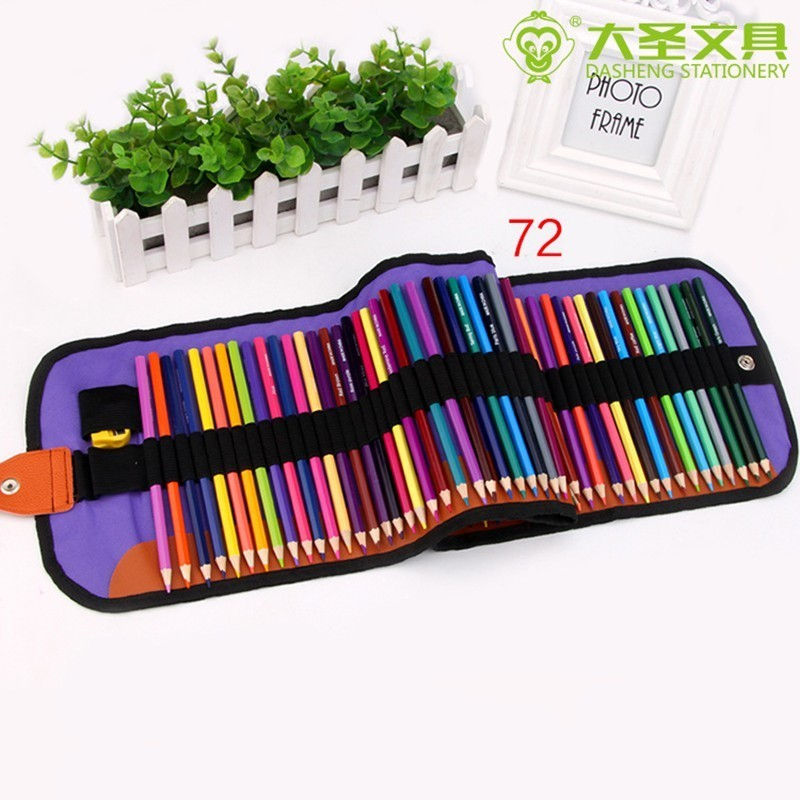 72pcs Oily colored pencil Set Professional Drawing Kit Set Wood Pencil Pencil Bags For Painter School Students Art Supplies