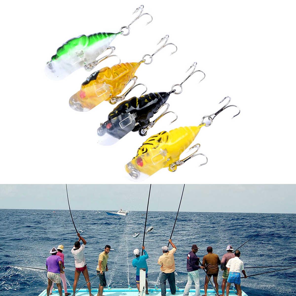 4 шт Окрашенные Пластиковые насекомые шаблон наживки рыболовные блесны окрашенные серии бионические приманки из твердого пластика жизни-как Swimbait