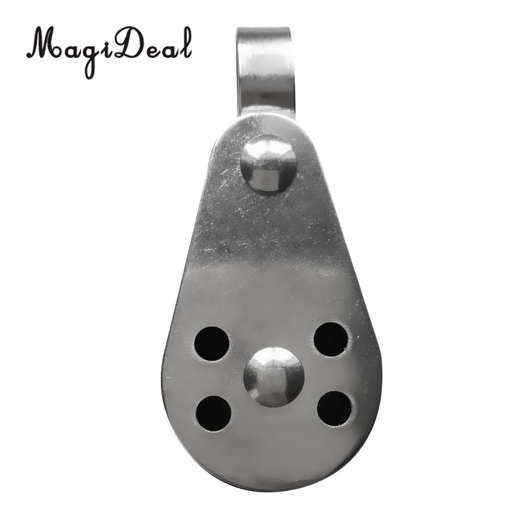 US $2 99 23% OFF|MagiDeal Marine Sheave Stainless Steel Single Pulley For  Kayak Anchor Trolley Systems for Kayaking Canoeing Rafting Boating Acce-in