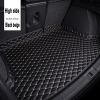 ZHAOYANHUA Special custom made car Trunk mats for Honda Civic CRV City HRV Vezel Crosstour Fit leather Anti slip carpet liner