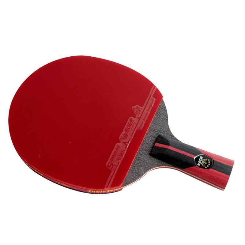 1pcs 6 Star 7.6 Carbon Table Tennis Racket Double Rubber Lightweight Powerful Ping Pong Paddle Bat Pen-hold/shakehand Grip Bat
