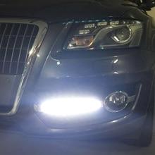 2 pz/set Car Styling DRL ABS Paraurti Anteriore Daytime Corsa e Jogging Luce Luce di Nebbia Coperture Lampada Maschere Fit Per Audi Q5 2009-2013