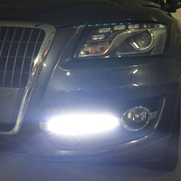 2Pcs/Set Car Styling DRL ABS Front Bumper Daytime Running Light Fog Light Covers Lamp Masks Fit For Audi Q5 2009 2013