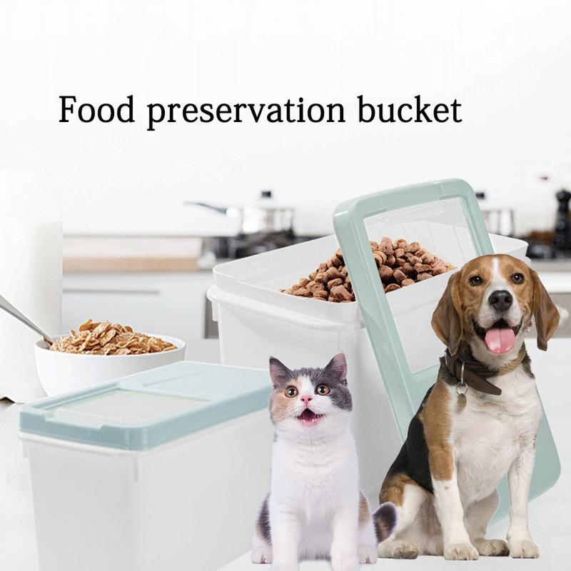 Pet Dog Food Storage Case Sealed Container Moisture-proof Insect-proof Keep Fresh Grain Storage Box Bucket For Dog Cat Food image