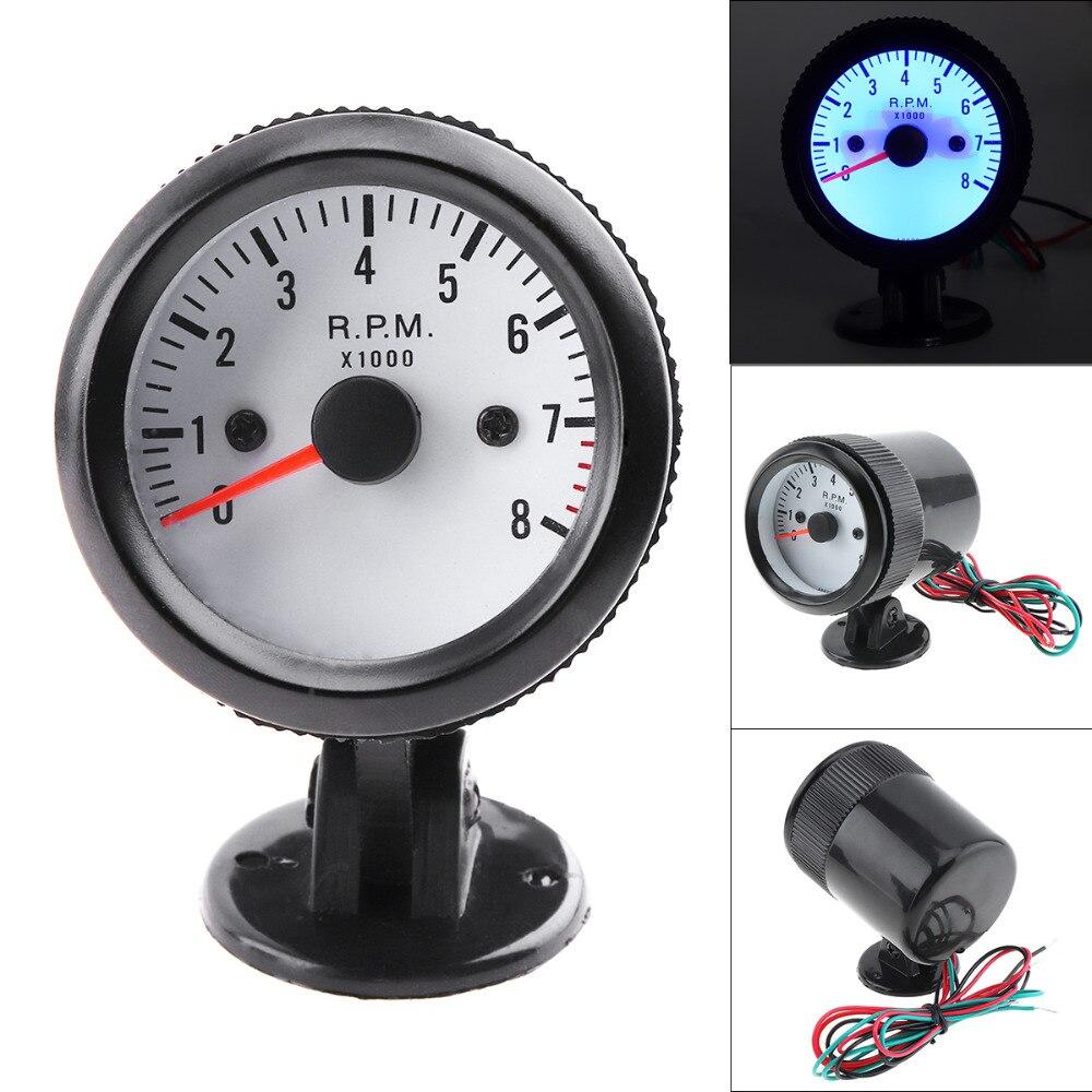 Car Modification Tachometer Instrument Blue Led Tachometer