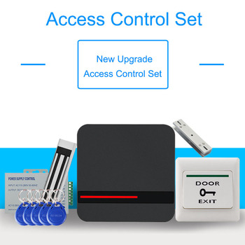 Door RFID Access Control System Kits Set Device 125KHz EM Card Reader with Magnetic Lock Power Supply For Home Office Security power supply relay panel with backup battery interface low voltage protection for door access control