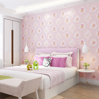 Lovely 3d Bear Wallpaper Baby Girls Boys Rooms Pink Blue Yellow Butterfly Wall Paper Kids Bedroom Decor Sticky Wallpapers Ez030