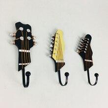 3 шт. в форме гитары вешалки винтажные полимерные крючки домашний настенный крючок украшение для одежды полотенце пальто одежда настенная вешалка