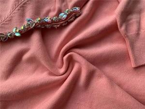 Image 4 - 2019 conjunto de mujeres tejidas conjunto de un hombro de sudadera y pantalón Sexy mujeres chándal de dos piezas conjunto de mujeres