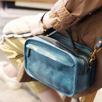 2019 New Retro Doctor Bag Fashion Vintage Small Messenger Bag Ladies Shoulder Bag Real Leather Totes Handbag Two New Style