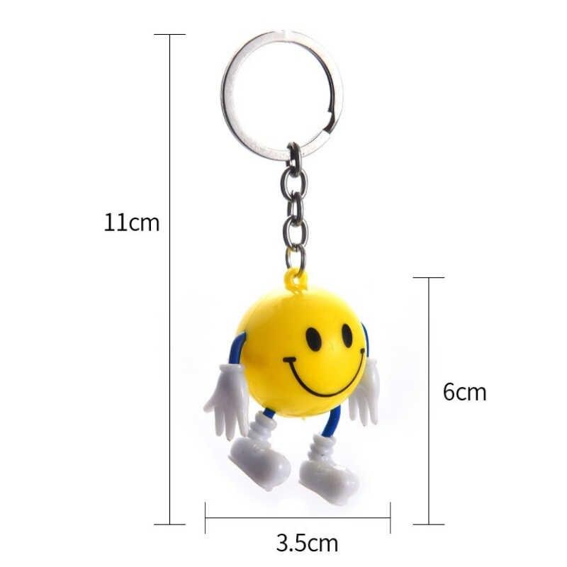 Nova 1 PC Aleatório Bonito Emoji ExpressionToy Lindo Chaveiro Bag Pingente de Chave Do Carro Anéis Chave Chaveiro Presente Da Jóia de Plástico