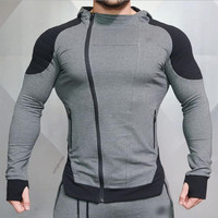Muscle Men Fall Winter Men Sports Running Leisure Sweater Fitness Sweater Jacket Running Sports Zipper Jacket