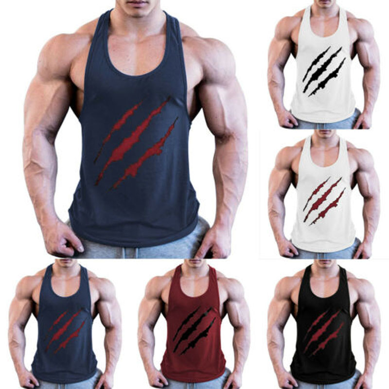2019 New Brand Fashion Mens Fitness Activewear Top  Gym Sport Bodybuilding Muscle Tee Shirt
