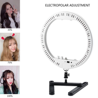 Makeup Dimmable 14 LED Ring Lamp Fill Light with Cosmetic Mirror Photography Selfie Light for Camera Photo Studio Video Live