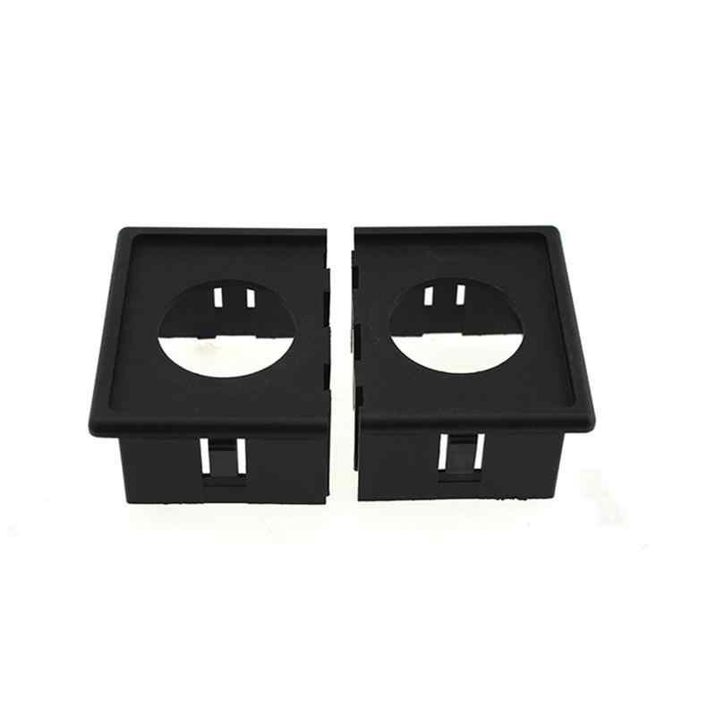 12V/24V Cigarette Lighter Adapter & 3.1A USB Power Socket with Housing Holder Panel for Car Boat Truck RV