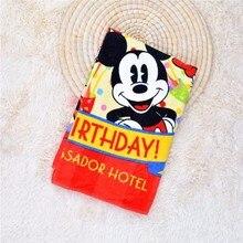 Disney Cotton Red Mickey Bath Towel Cartoon Minnie Donald Duck Daisy Pluto Goofy Soft Baby Children Bathing Towel New Year Gift