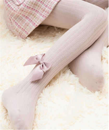 เด็กวัยหัดเดินเด็กทารกเด็กผู้หญิง Bowknot ฝ้าย Tights ถุงน่อง Pantyhose เด็กผู้หญิงเจ้าหญิงยืดนุ่มยืดหยุ่นถุงน่อง
