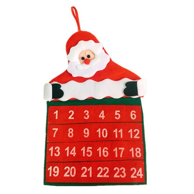 Kalender, Planer Und Karten Weihnachten Wand Kalender Samt Heiße Blume Santa Claus Kalender Weihnachten Dekoration Baum Kalender Hause Liefert