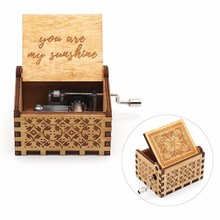 New Arrivals You are my sunshine star war Happy birthday game of throne wooden music box birthday party favors gift for kids