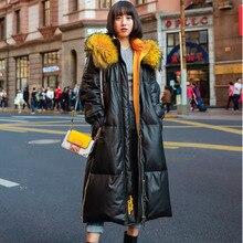 Chaqueta de piel de invierno con capucha gruesa cálida Parka de algodón de alta calidad abrigo suelto de piel de oveja Km042