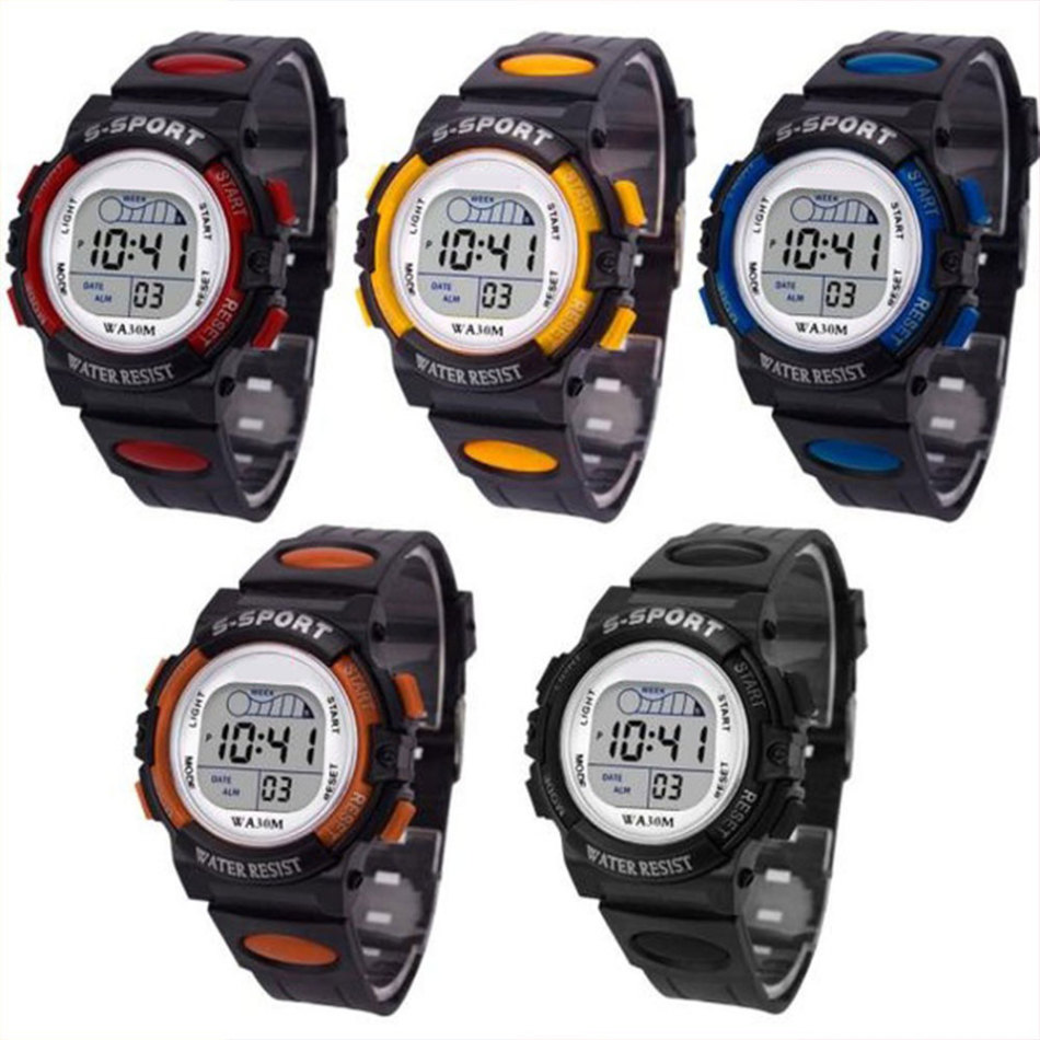 Multi Functional Children's Digital LED Sports Watch Fashion Simple Sports Alarm Clock Date Watch Gift