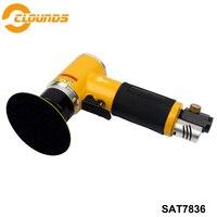 SAT7836 Hight Efficient 13000rpm Pad Size 2 3 Non Orbital Mini Air Sander Air Polish Tool