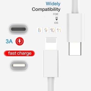 Image 3 - PD Cable De Carga Rápida para USB C Lightning para iPhone Xs X 8 pin a TypeC 3A Cargador rápido para el tipo C Lightning Macbook al teléfono