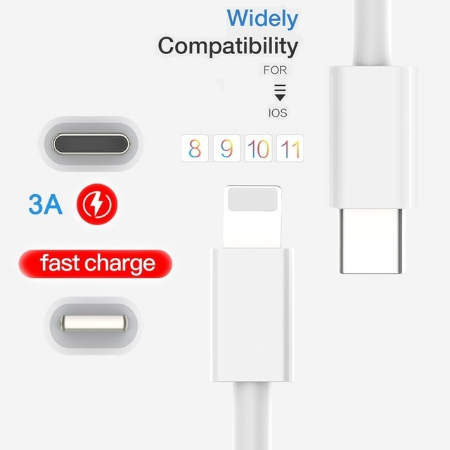 Fast Charging USB iPhone and Type-C Cable
