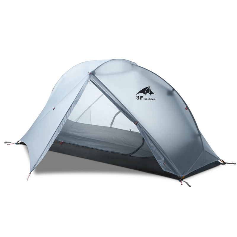 3F UL GEAR Oudoor ultra-léger 1 personne Camping tente 3/4 saison professionnel 15D Nylon silicone tente Para Camping pied impression