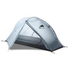 3F UL MARCIA Oudoor Ultralight 1 Persona Tenda Da Campeggio 3/4 Stagione Professionale 15D di Nylon Tenda Silicio Para Campeggio Stampa Del Piede