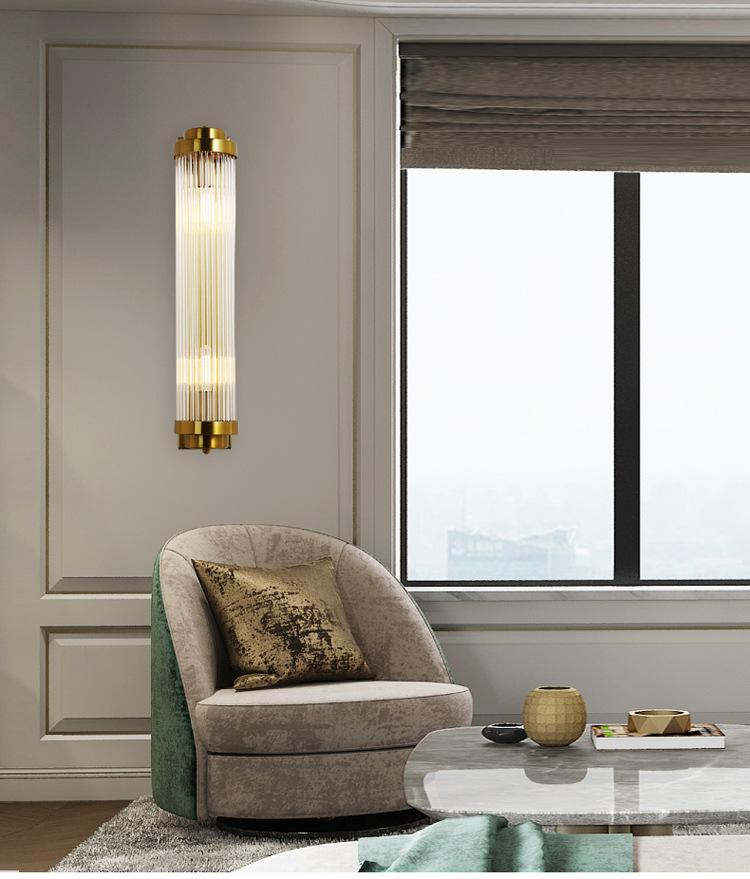 Gold Nordic Post Modern Wall lamp Minimalist Luxury Style Designer Model Room Living Room Background Wall Bedroom Bedside Lamp