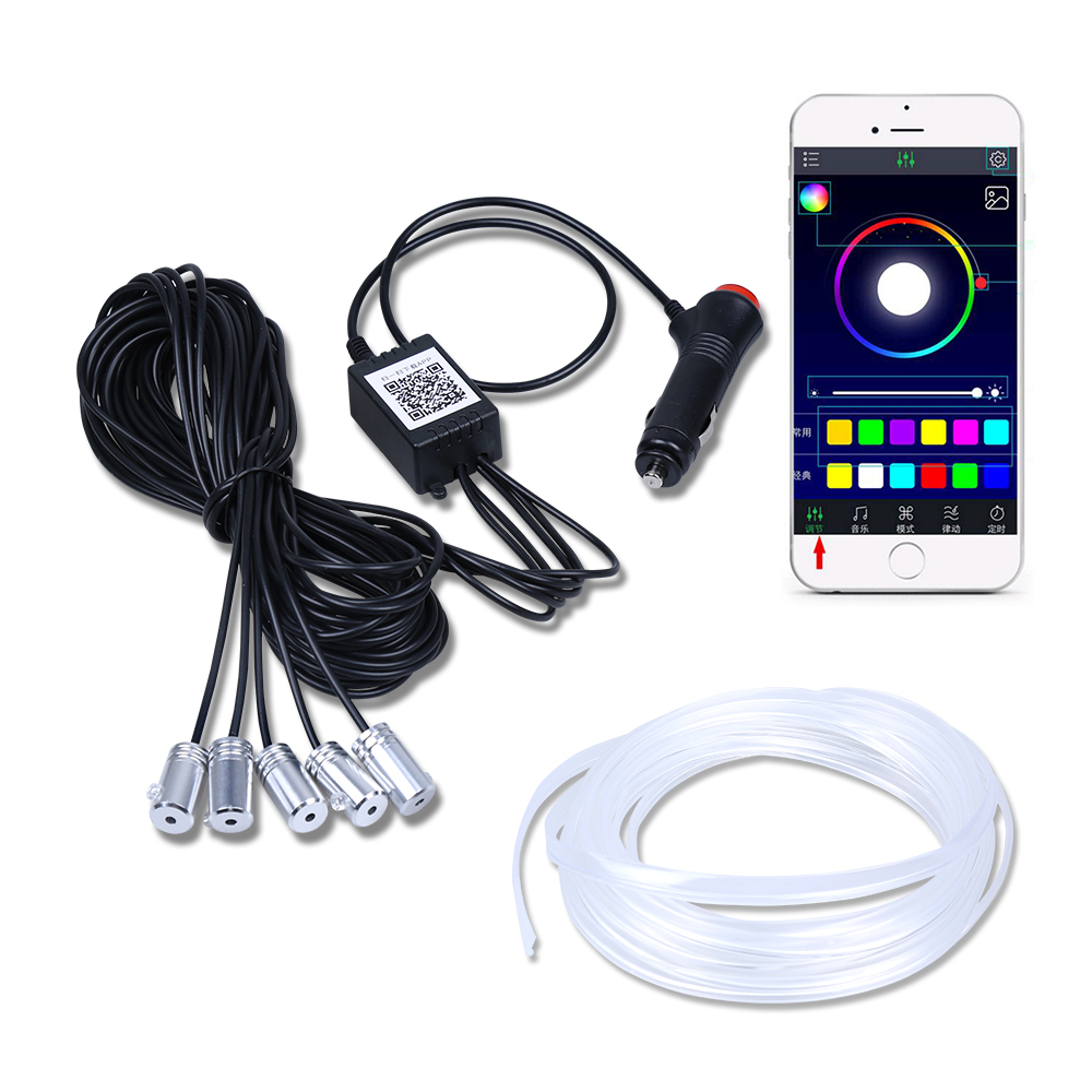 Amiable El Neon Wire Strip Light 4/5/6 In 1 5/6m Car Flexible Interior Led Rgb App Control Atmosphere Decoration Light Waterproof 12v Car Lights