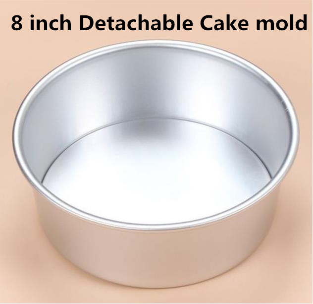 Aluminum Alloy Die Round 8 Inch Detachable Cake Mold Cake Tool Baking Dish Baking Mould Pan Pattern Bakeware Tool New Arrival