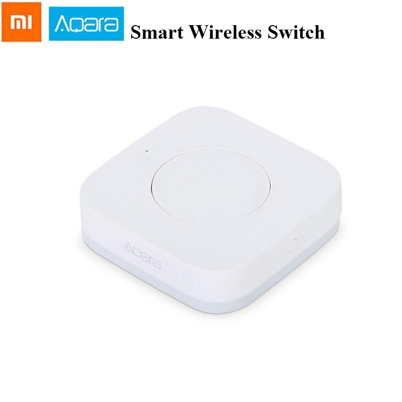 Aqara mijia aqara inteligente interruptor sem fio inteligente controle remoto uma chave aqara aplicativo de segurança em casa controle app