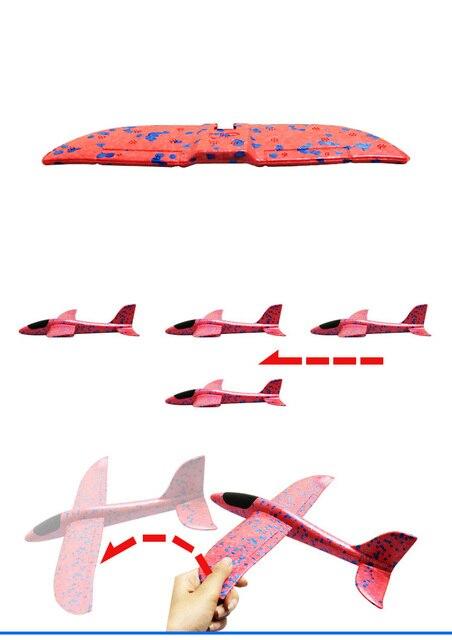 48 cm EPP Schaum Hand Werfen Flugzeug Outdoor Starten Segelflugzeug Flugzeug werfen Werfen Segelflugzeug Trägheit Modell Kinder Geschenk Interessante Spielzeug