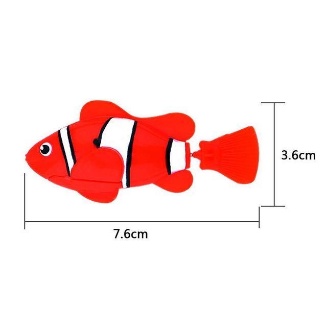 Elettronico di Pesce Nuotare Giocattolo Batteria Inclusa Robot Da Compagnia per I Bambini Da Bagno Giocattolo del bambino di Pesca Serbatoio Decorazione Agire Come Vero E Proprio Pesce 5