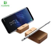 FLOVEME Real Wooden Stand Holder Phone For iPhone 6 6s 7 Plus Mobile Universal Beech Wood