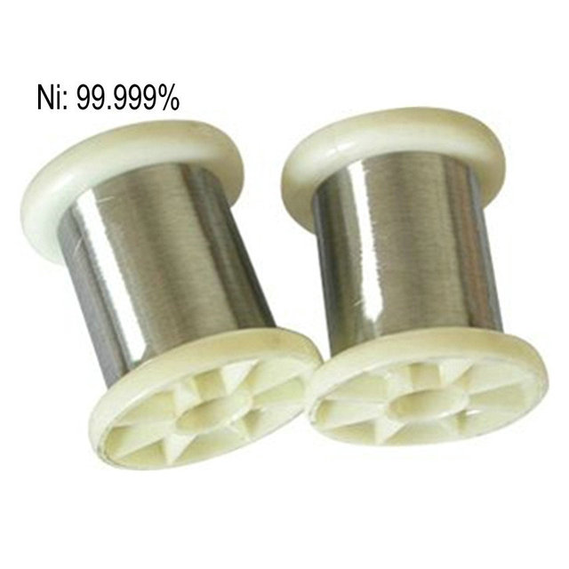 Nickel Wire 5N Ni High Purity 99.999% for Research and Development Element Metal Diameter 0.05 0.1 0.2 0.3 0.4 0.5mm