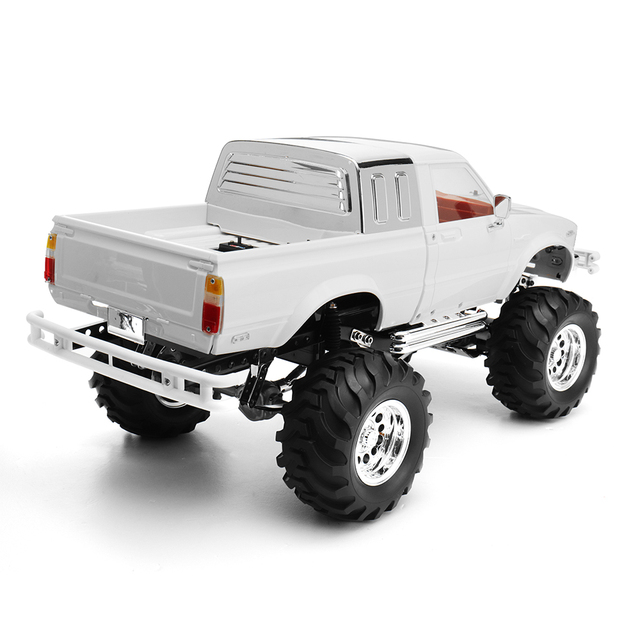 New HG P407A 1/10 2.4G 4WD Rc Car Kit for TOYATO Metal 4X4 Pickup Truck No Servo Battery ESC Transmitter DIY RC Kids Toys 4