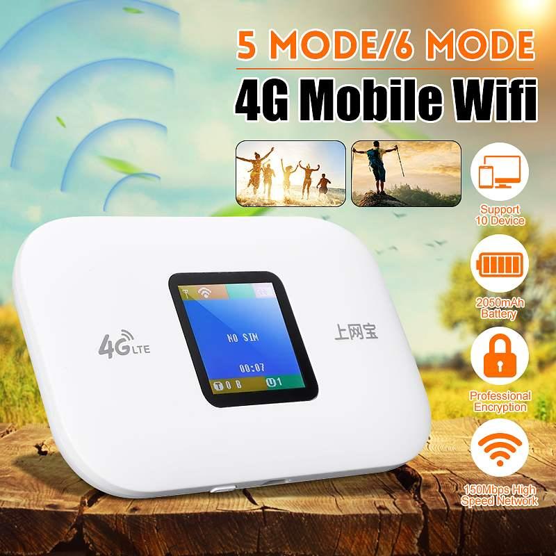 4G voiture routeur sans fil Portable Wifi Internet trésor 150 Mbps cinq modes/Six modes écran couleur